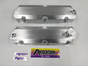 Anderson Fabricated Valve Covers for 86-93 Mustang SC/Turbo with Ventilation for Catch Can (Bare Aluminum)