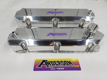 Anderson Fabricated Valve Covers for 86-93 Mustang SC/Turbo with Ventilation for Catch Can (Polished Aluminum)
