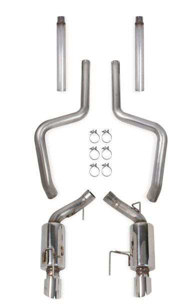 "70503338-RHKR Hooker Blackheart 2005-09 Mustang GT V8 4.6L, 3"" 304 Stainless Steel Cat-Back Exhaust with Mufflers"