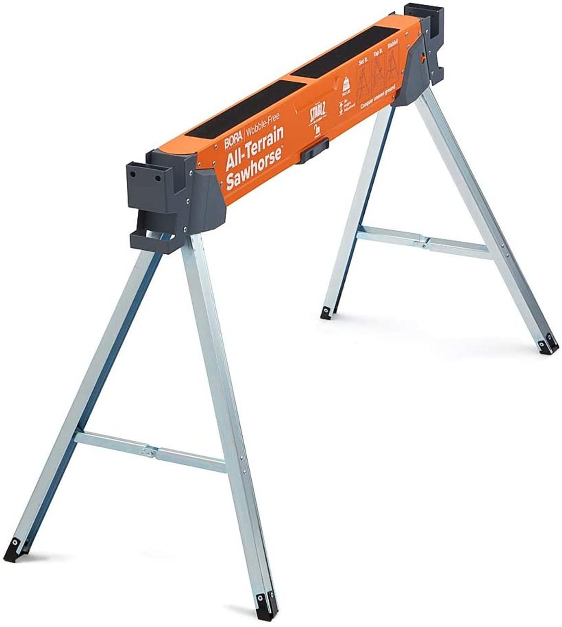 Bora Portamate All-Terrain Sawhorse Table Woodworking Carpenters PM-4520T
