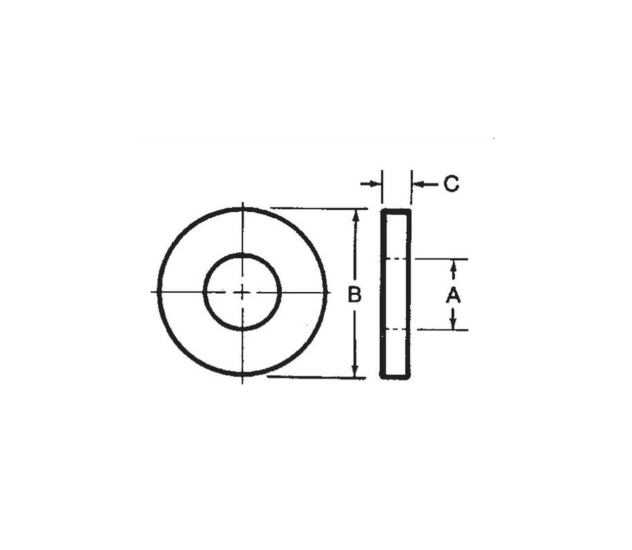 Morton Precision Flat Washer 5/8in Arbor 21/32in ID 1-3/8in x 1/8in 10 pack