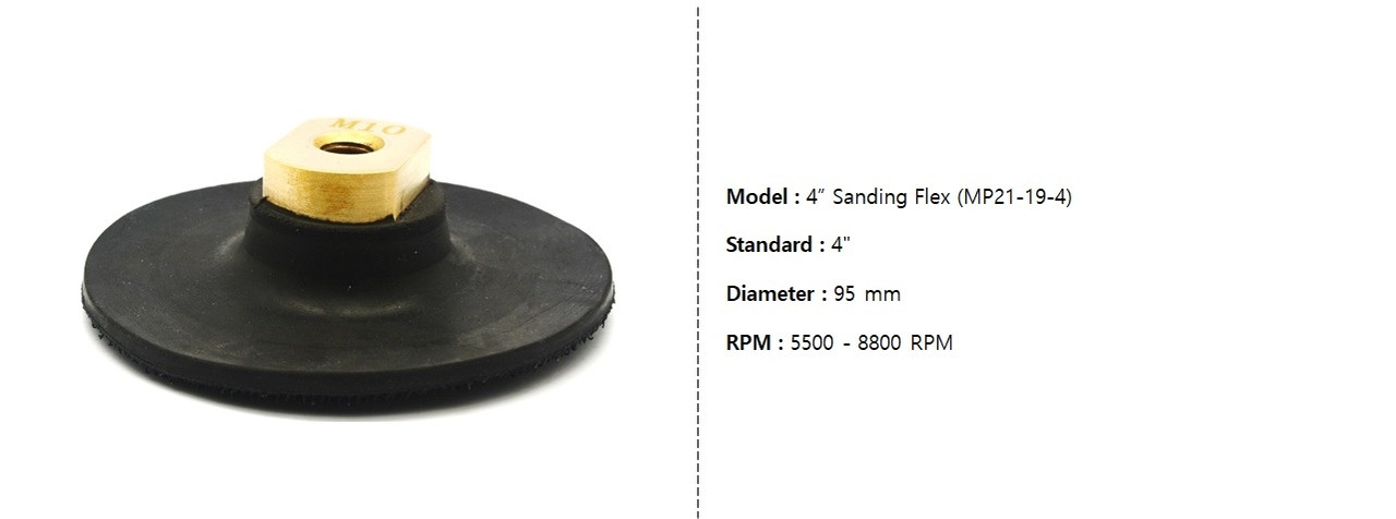 Manpa MP21-19-4 Rugged rubber 4 inch sanding flex loop pad for Angle Grinder