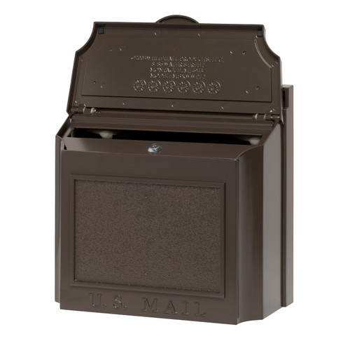 Whitehall Wall Mounted Locking Security Mailbox in French Bronze