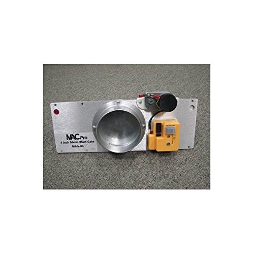 iVAC MBG-04-NA 4'' Metal Blast Gate for Dust Collection