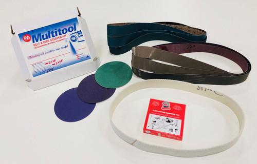 "Multi Tool USA 2"" x 48"" Belt, 7"" Disc - Metal Working Belt & Disc Starter Kit"