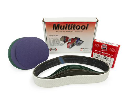 "Multi Tool USA 4"" x 48"" Belt, 7"" Disc - Metal Working Belt & Disc Starter Kit"