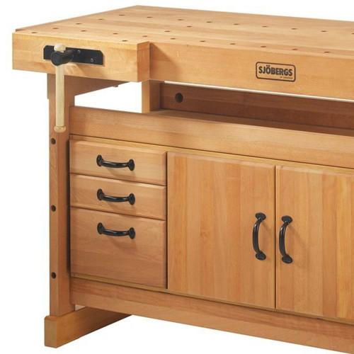 Sjobergs Scandi Plus 1425 Wood Workbench + SM03 Cabinet Combo