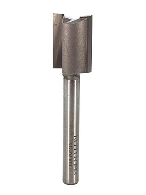 Whiteside K43 Keller Straight Bit, 5/8-Inch Large Diameter, 3/4-Inch Cutting Diameter & 1/4-Inch Shank