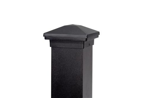 "DekPro Aluminum 4x4 Post Cap - Textured Black 3-5/8"" Actual Opening"
