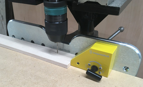 MAGSWITCH Drill press Fence 13 inches long by 2 1/2 Magnetic Mount and Stop