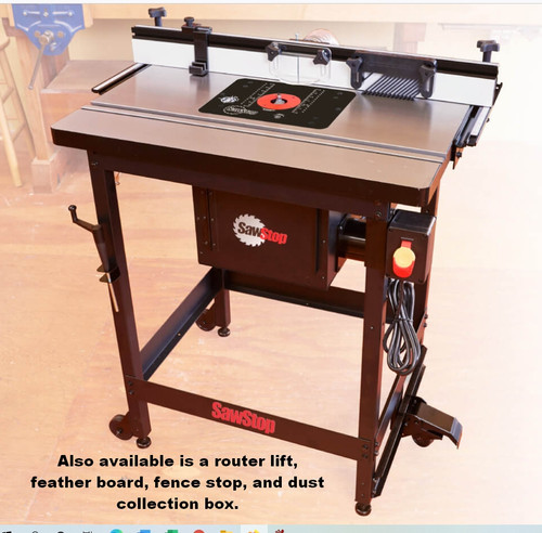 SawStop RT-PHFS Phenolic Router Table top with  Fence and Leg Set