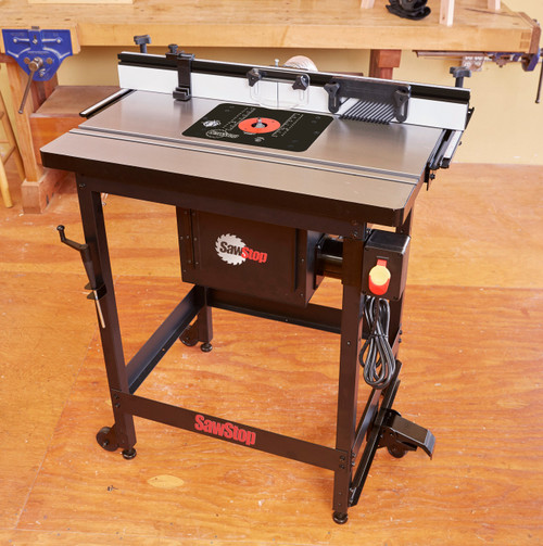 SawStop RT-FS Cast Iron Router Table top with  Fence and Leg Set