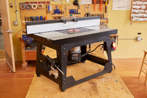 SawStop RT-BT Cast Iron Router Table top with  Fence and Leg Set