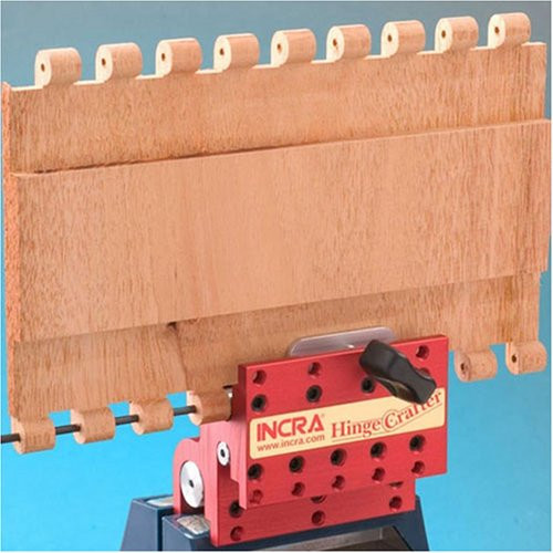 "INCRA HingeCrafter Wooden Hinge Drill Guide for Hinges up to 10"" Long in 4 Sizes"
