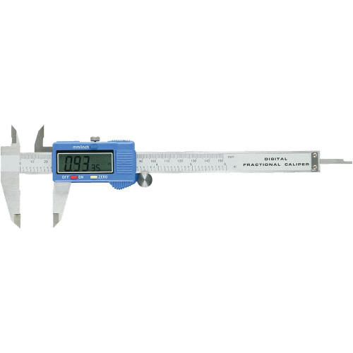 Woodstock D4112 6-Inch Fractional Digital Caliper