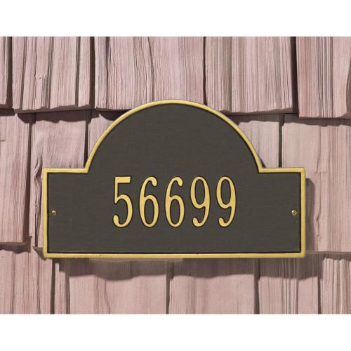 Bavarian Mountain Hound 2 Line Wall Address PlaqueSign