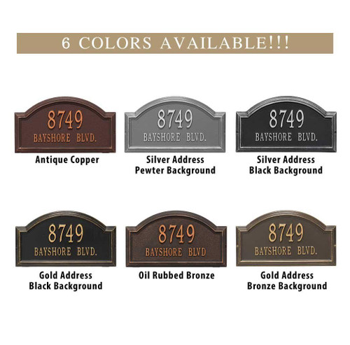 Whitehall Williamsburg Standard Wall Two-Line Address Plaque - Customize!