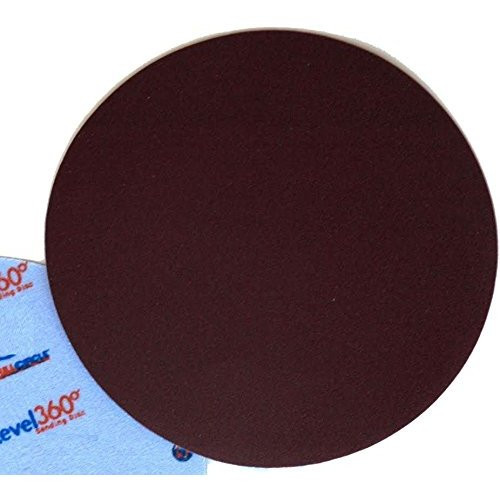 """Full Circle Int'l 5-pack Level 360 8-3/4"""" round sanding discs 100 Grit (SD100-5)"""