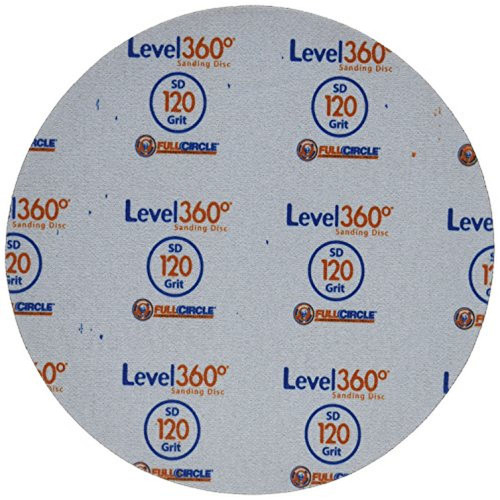 """Full Circle Int'l 5-pack Level 360 8-3/4"""" round sanding discs 120 Grit (SD120-5)"""