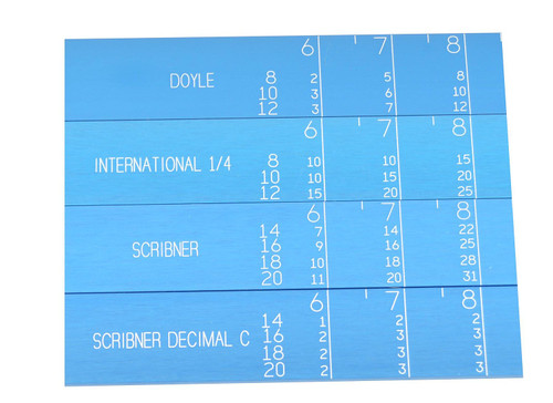 LogRite LSI36H International Log Scale Log Rule with Rubber Grip Handle