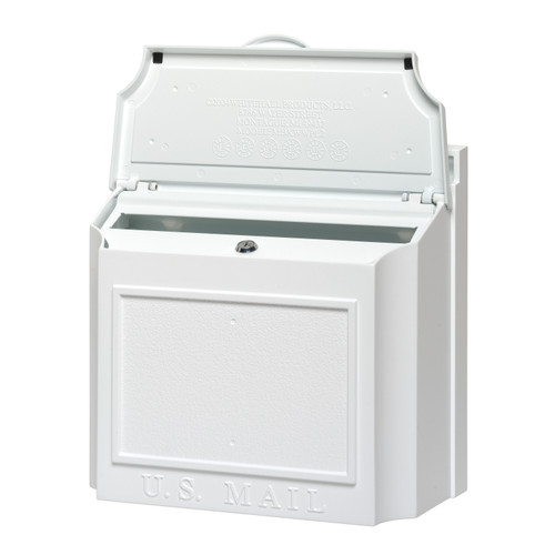 Whitehall Wall Mounted Locking Security Mailbox in White