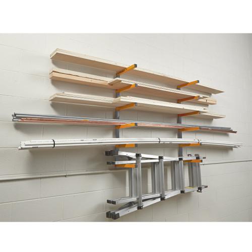 BORA PBR-001 Wood Organizer & Lumber Storage Metal Rack 6-Level Wall Mount