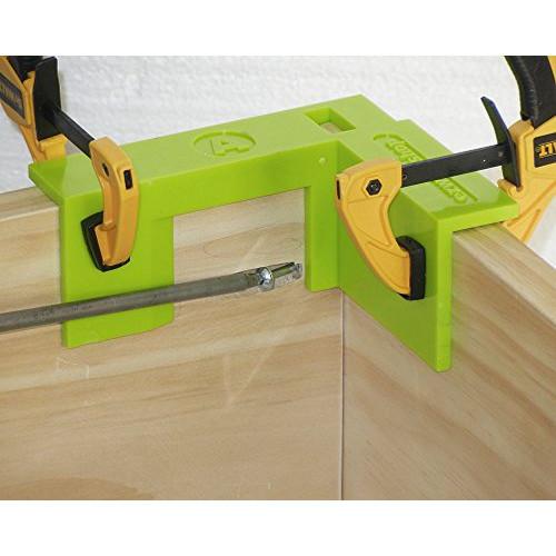 EZ Woodshop 2 Corner 1/2 Shelf Box & Cabinet Square Pocket Hole Jig assembly Set