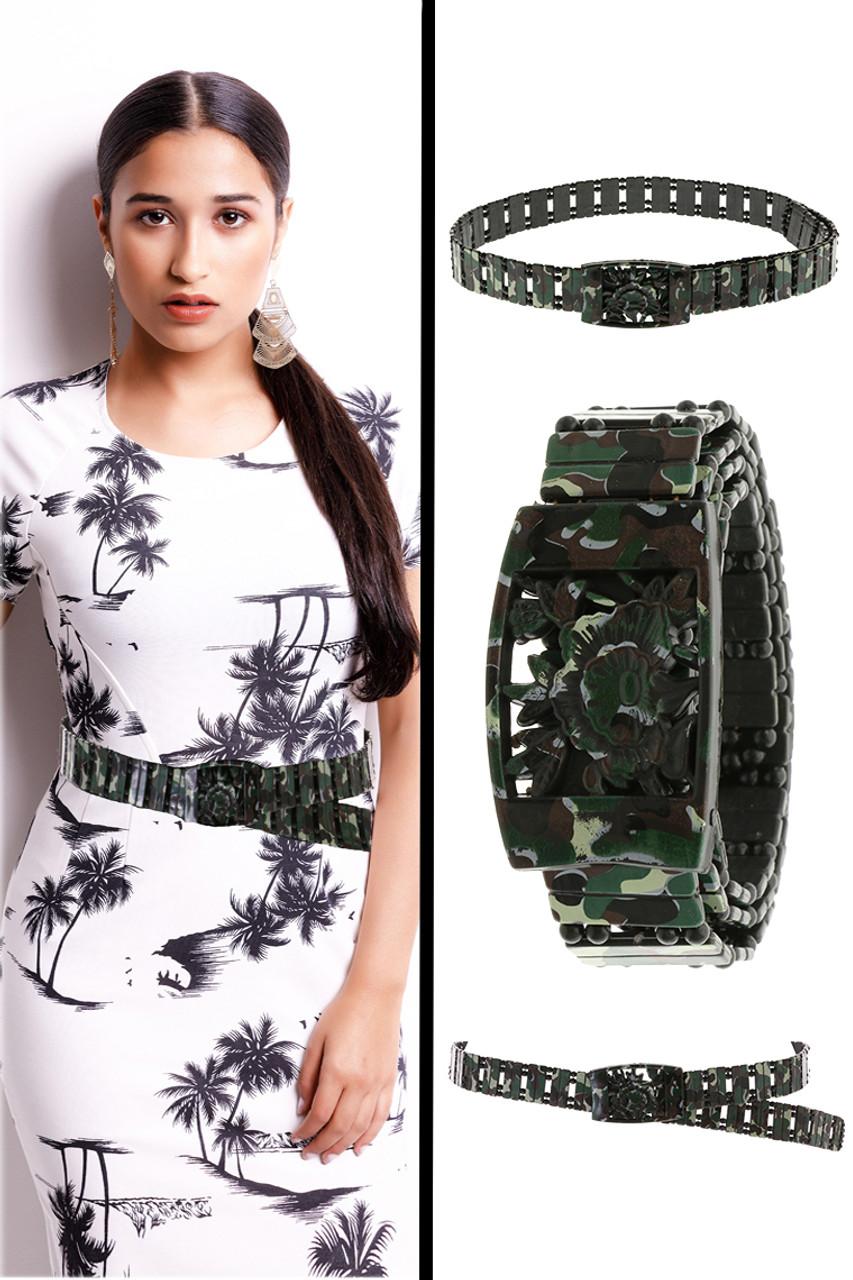Plastic Camouflage Print Belt 06BLT99136