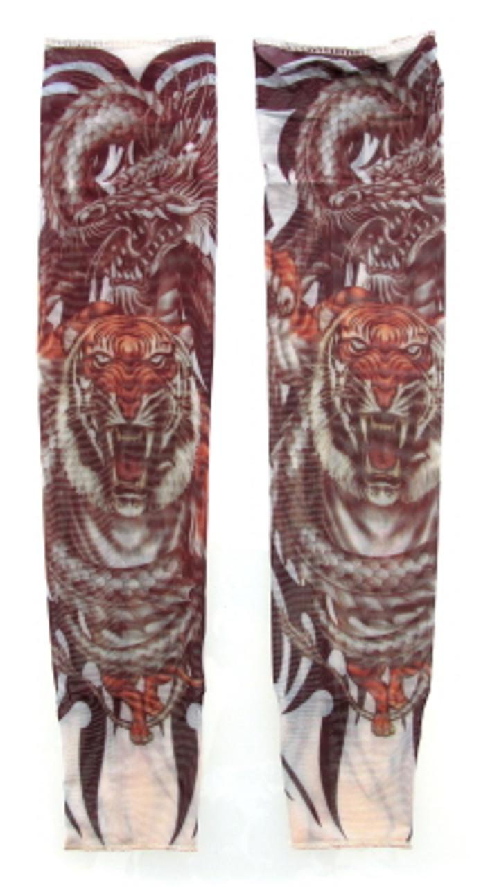 Wearable sleeve with tiger print tattoo design TTSL22