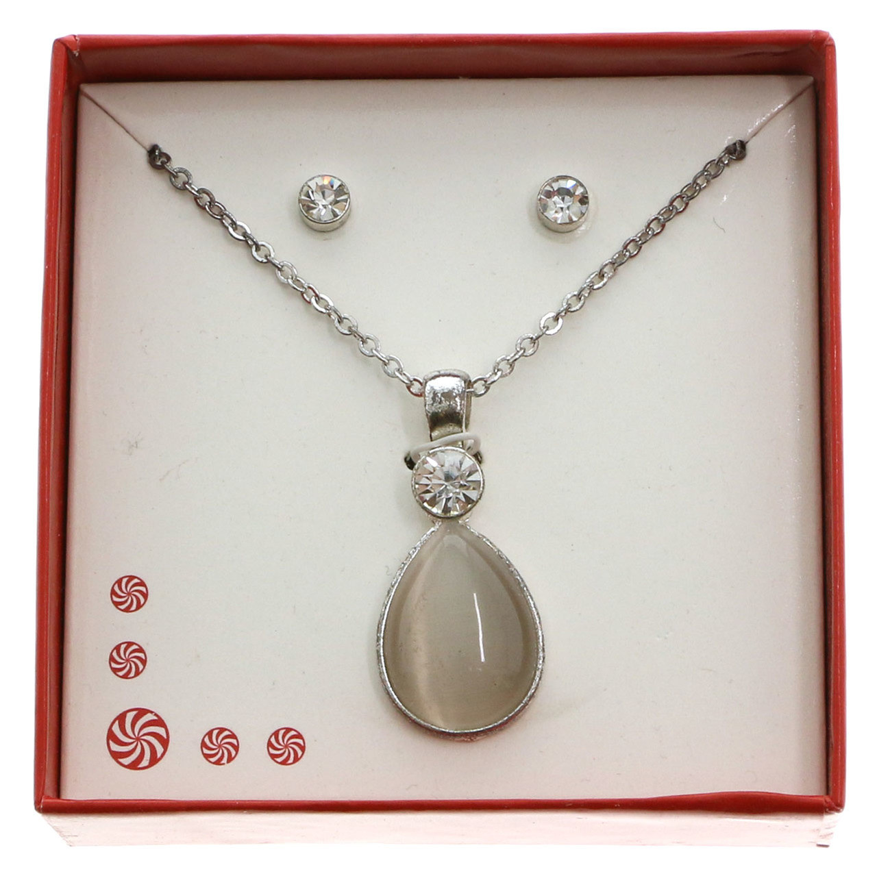 Water Drop Necklace And Earring Gift Box Gbne5