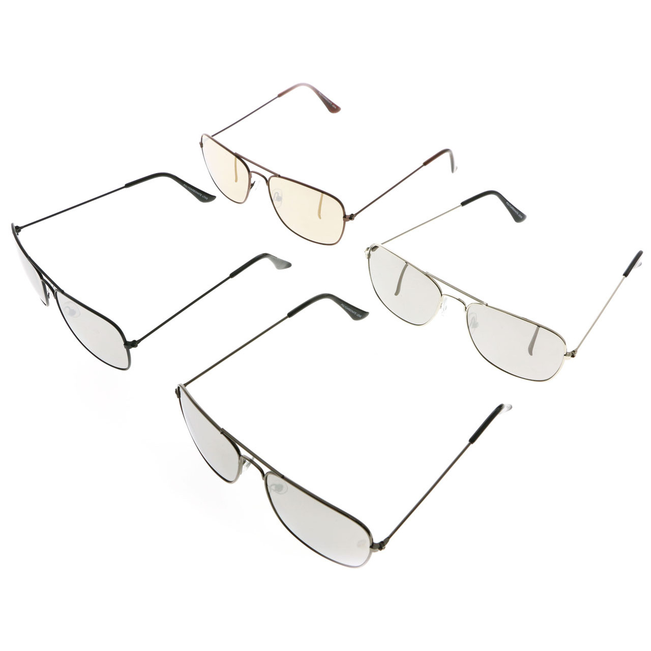 Aviator Mirrored Lens Sunglasses Assorted 26SG4333M
