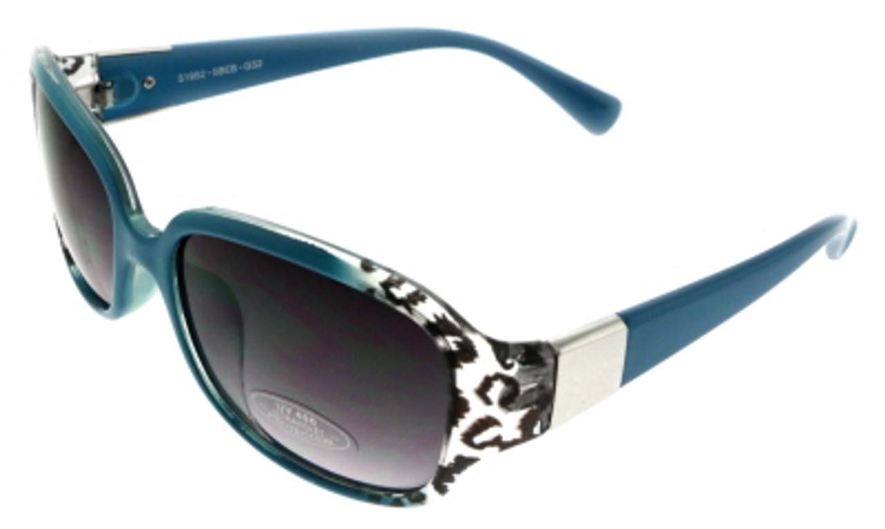 UV400 Cheetah Print Teal Acrylic Frame Fashion Sunglasses For Women 26SG51952