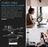 Clamp mount (Clip) for Desktop Zoom Light