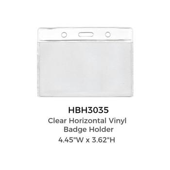 Clear Vinyl  Badge Holder