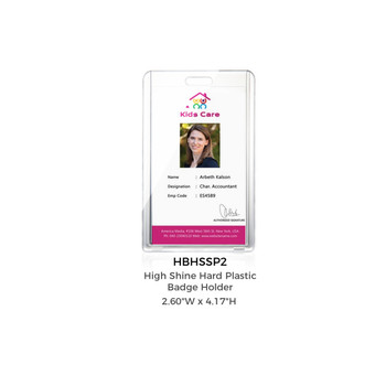 High Shine acrylic Badge Holder