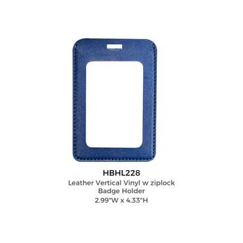 PU Leather Badge Holder