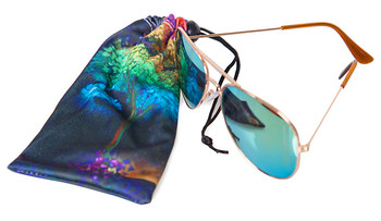 Dye Sublimated microfiber cell phone & Eyeglass pouch