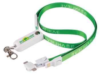 3-in-1 Lanyard Charging Cable w/ Breakaway