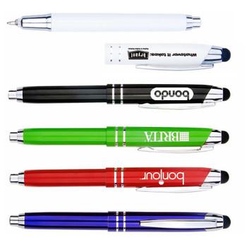 Metal Pen W/ Light & Stylus