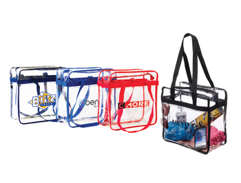 Clear Zippered Stadium Tote Bag