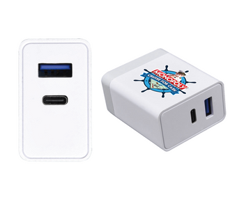 Boom18 2-Port USB/TYPE-C 18W Fast Wall Charger