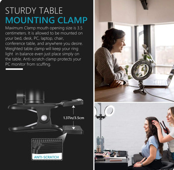 Clamp mount (Clip) for Desktop Zoom Light