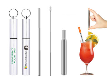 Collapsible Stainless Straw with Travel Case