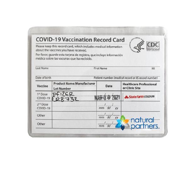 Vinyl Vaccine Card  Holder