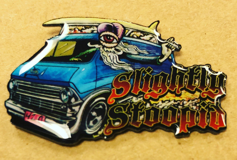 Slightly Stoopid 2018 official merch Schools out for summer hat pin