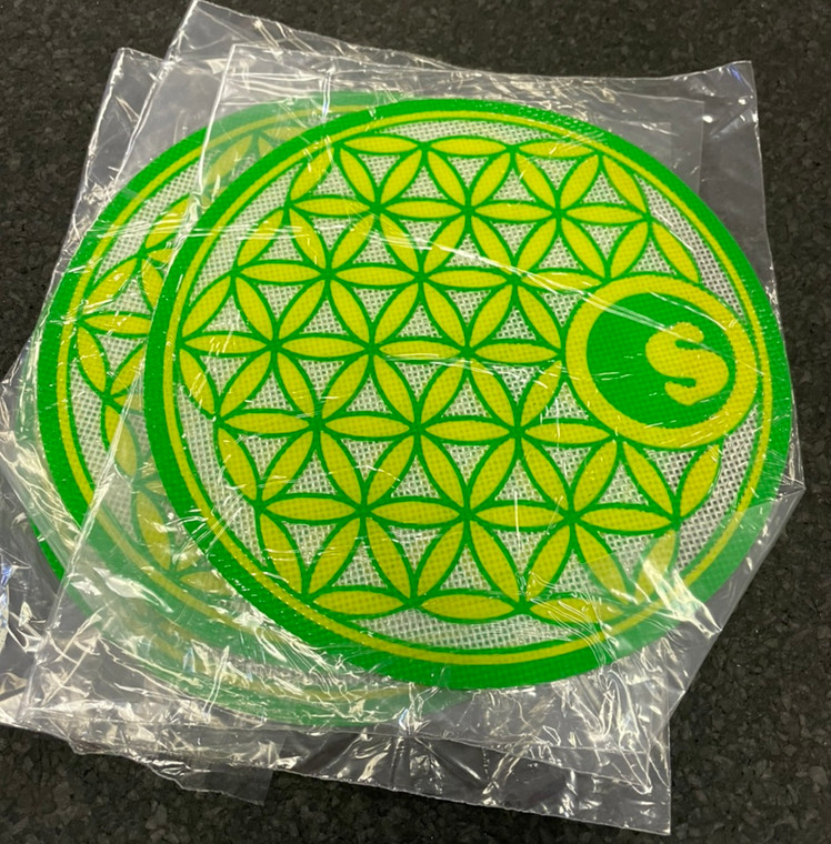 Seedless Flower of Life silicone dab mat