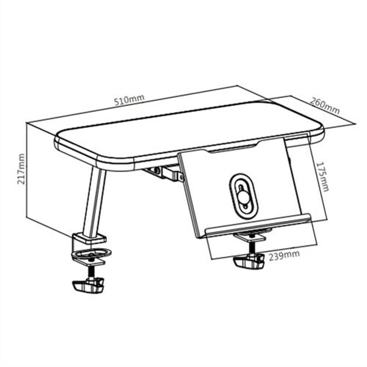 EFurnit Teens Desk Book Shelf , Small , 51x26 cm