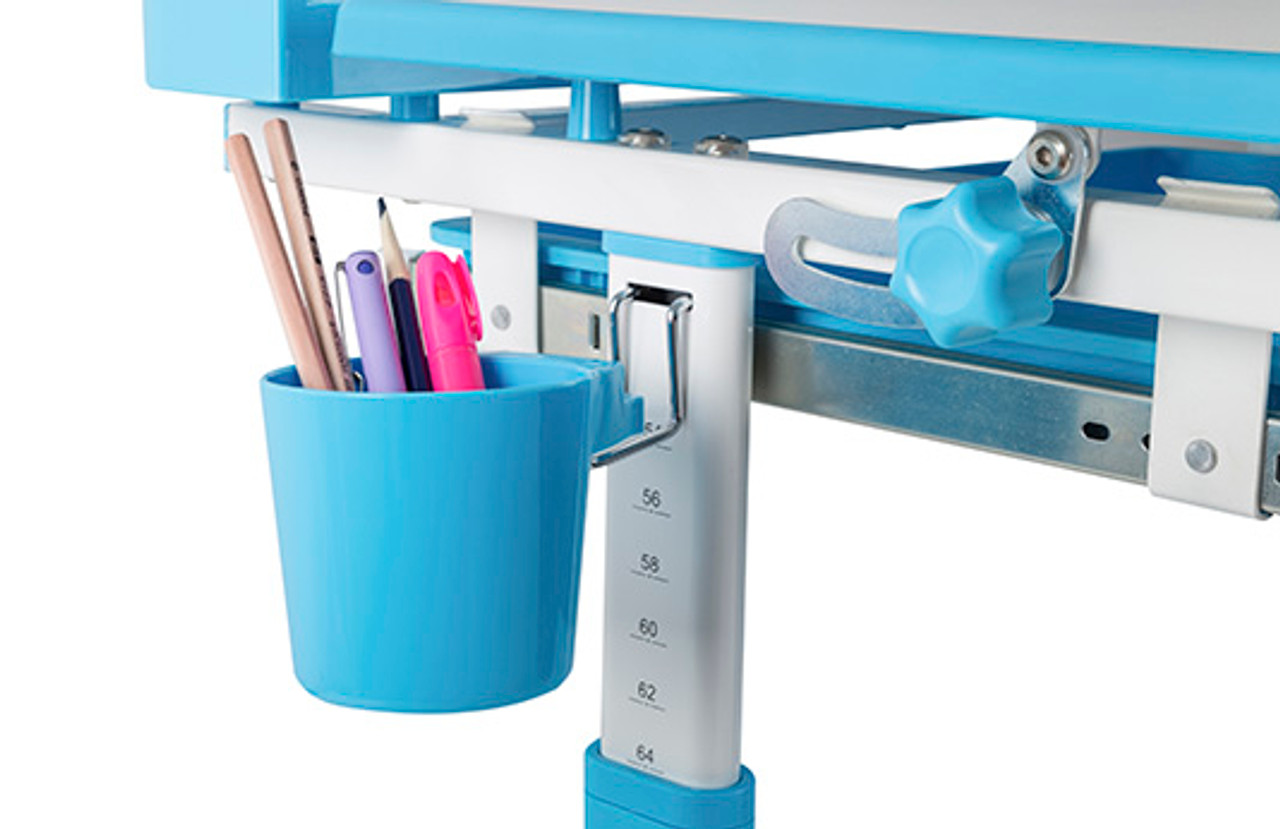 EFurnit Kids Desk Cup Holder- Blue, Grey, Pink