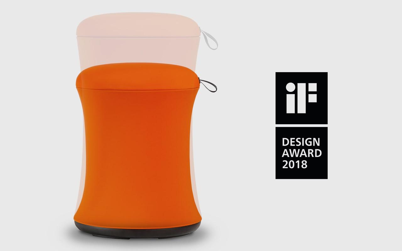 EFurnit Height Adjustable Stool - IF Design Award Winner - Ergonomic, Rotating, Active Sit Standing Stool