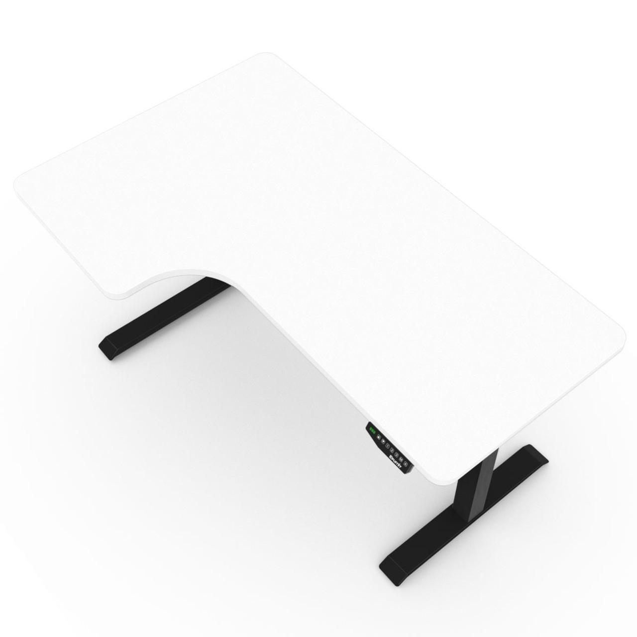 EFurnit Alpine Corner Standing Desk Frame, Dual motor